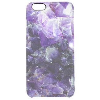 Purple amethyst clear iPhone 6 plus case
