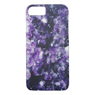 Purple amethyst crystal iPhone 8/7 case