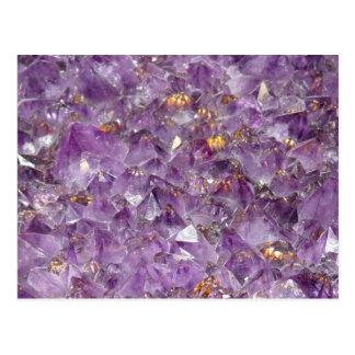 Purple Amethyst Crystal Stone Print Postcard