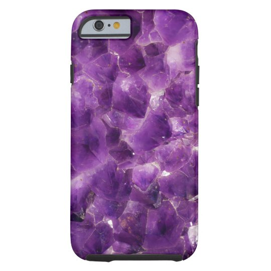 Purple Amethyst Gemstone Rock February Birthstone Tough iPhone