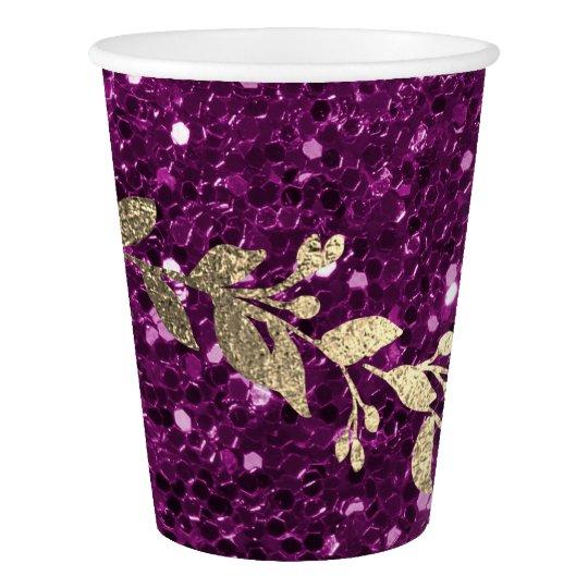 Purple Amethyst Glitter Foxier Gold Girland Metal Paper