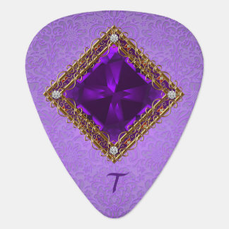 Purple Amethyst Guitar Pick