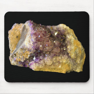 Purple Amethyst Mineral Crystals Photo Mouse Mat
