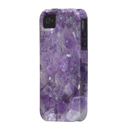 Purple Amethyst Precious Gems iPhone 4 Cover