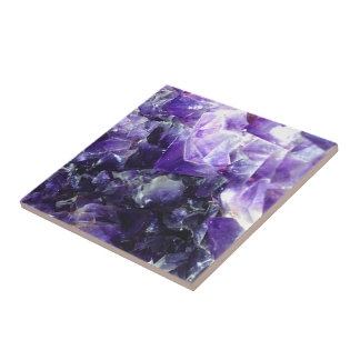 Purple amethyst small square tile