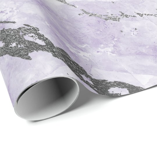 Purple Amethyst White Silver Gray Marble Shiny Wrapping