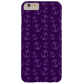 Purple anchor pattern barely there iPhone 6 plus case