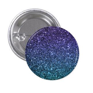 Purple and Aqua Ombre Faux Glitter Button