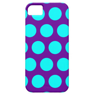 Purple and Aqua Polka Dots Case For The iPhone 5