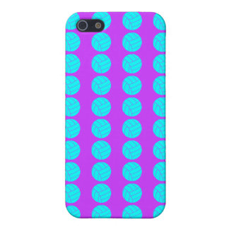 Purple and Aqua Volleyball iPhone 5C Case
