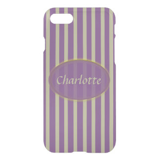 Purple and Beige Stripes - Classic Design iPhone 8/7 Case