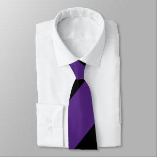 Purple and Black Broad Regimental Stripe Tie