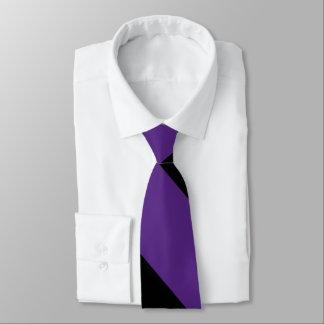 Purple and Black Broad University Stripe Tie