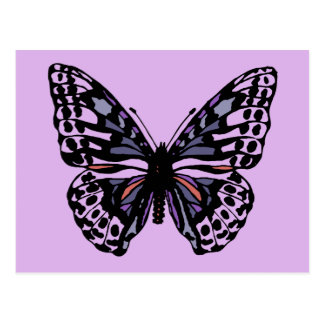 Purple and Black Butterfly Postcard
