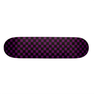 Purple And Black Checkered Deck 21.6 Cm Skateboard Deck