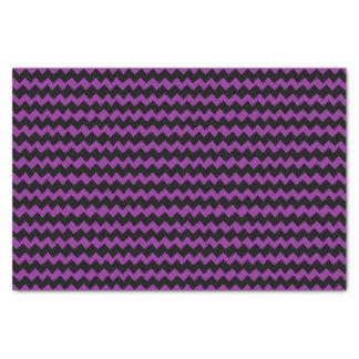 Purple and Black Chevron Stripes Tissue Paper