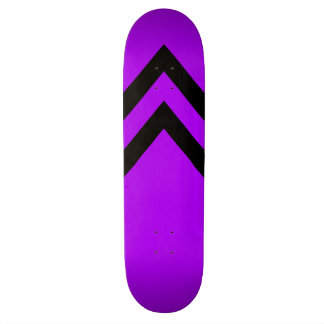 Purple and Black Chevrons Skateboard Deck
