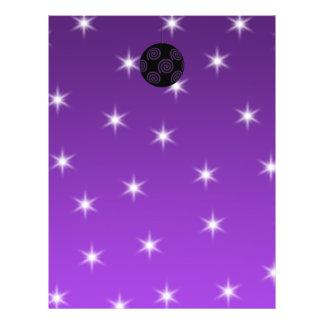 Purple and Black Christmas Bauble Custom Flyer