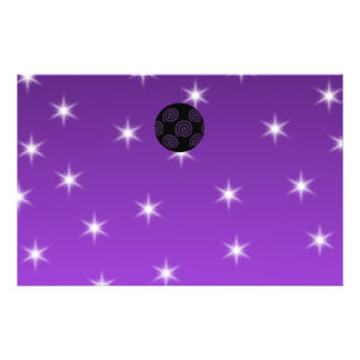 Purple and Black Christmas Bauble. Custom Flyer
