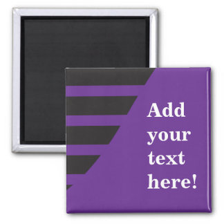 Purple and Black Customize Square Magnet