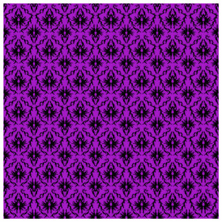 Purple and Black Damask Design. Gothic. Standing Photo Sculpture