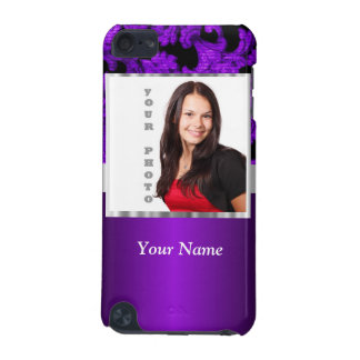 Purple and black damask photo template iPod touch 5G covers