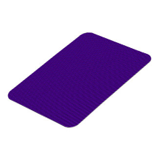 Purple and Black Diagonal Stripes Rectangular Photo Magnet