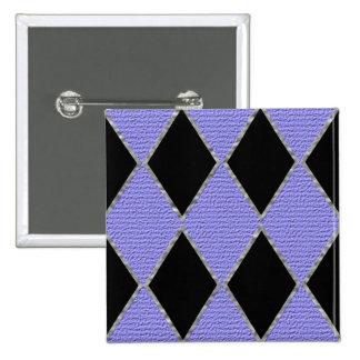 Purple and black diamond sparkle button