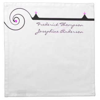 Purple and Black Elegant Wedding Napkin