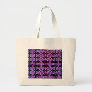 Purple and Black Fractal Pattern Tote Bag