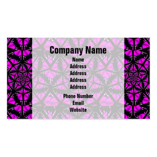 Purple and Black Hippie Pattern Business Card Templates