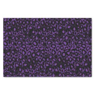 Purple and Black Leopard Animal Print Tissue Paper