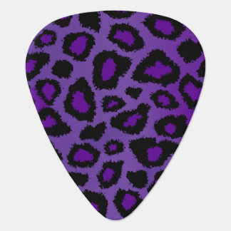 Purple And Black Leopard Pattern Plectrum