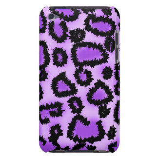 Purple and Black Leopard Print Pattern. Barely There iPod Covers