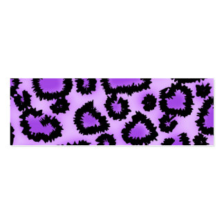 Purple and Black Leopard Print Pattern Business Cards