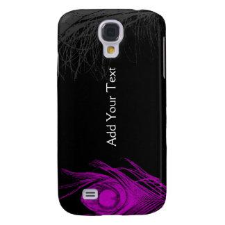 Purple and Black Peacock Galaxy S4 Case