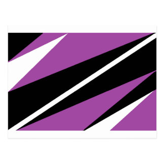 purple and black post card