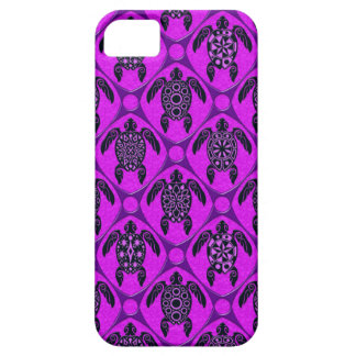 Purple and Black Sea Turtle Pattern Case For The iPhone 5