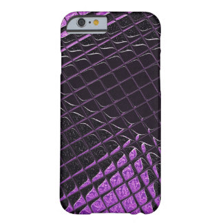 Purple and Black Shiny Snakeskin Scales Effect Barely There iPhone 6 Case