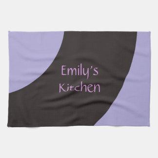 Purple and Black Swirl Tea Towel