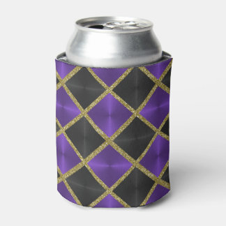 Purple and Black with Gold Squares