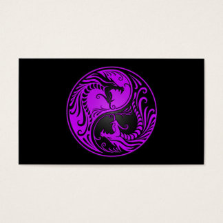 Purple and Black Yin Yang Dragons