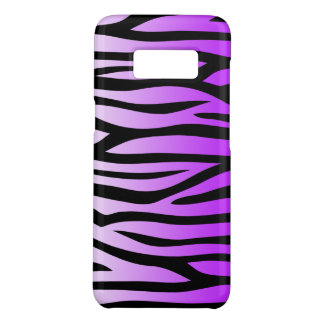 Purple and Black Zebra Print Case-Mate Samsung Galaxy S8 Case
