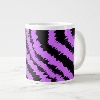 Purple and Black Zebra Print Pattern. Jumbo Mug