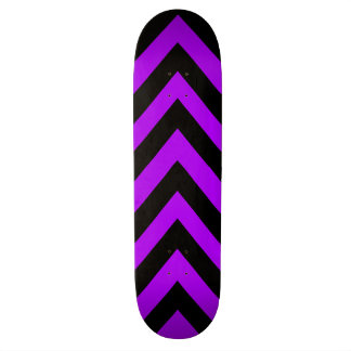 Purple and Black Zig Zag Skateboard Deck