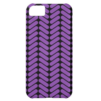 Purple and Black Zigzags Pattern. iPhone 5C Case