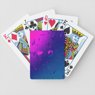 Purple and Blue Abstract Design Bicycle Playing Cards