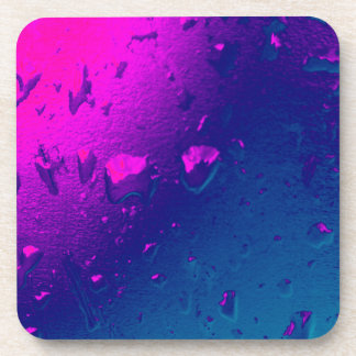 Purple and Blue Abstract Design Coaster