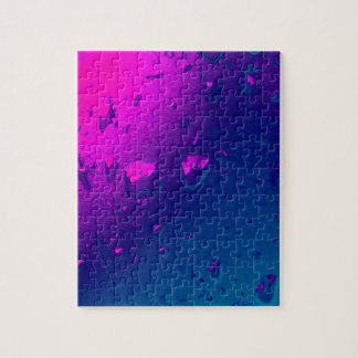 Purple and Blue Abstract Design Jigsaw Puzzle