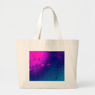 Purple and Blue Abstract Design Large Tote Bag
